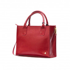 """Nova"" bag genuine leather, red colour"