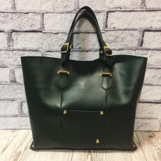 """Alice"" bag genuine leather, green colour"