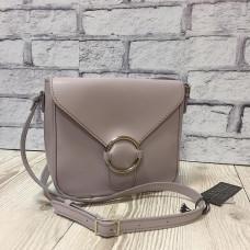 """Delta"" bag genuine leather, grey colour"