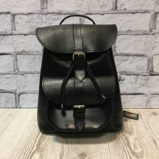 """VOYAGE"" backpack genuine leather, black color"