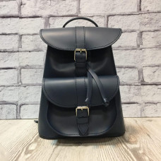 """VOYAGE"" backpack genuine leather, dark blue colour"