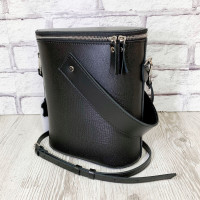 """Bolero"" bag genuine leather, black color"