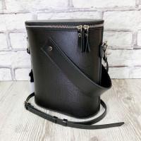 """Bolero"" bag genuine leather, black color"