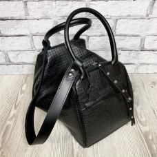"""""""Chelsi"""" bag genuine leather, black color"""