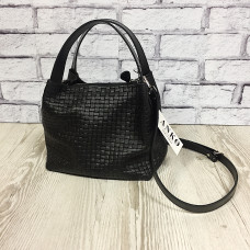 """Jacquin"" bag genuine leather, black colour"
