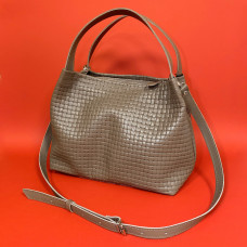"""Jacquin"" bag genuine leather (bigger), cappuccino color"
