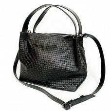 """Jacquin"" bag genuine leather (big), black colour"