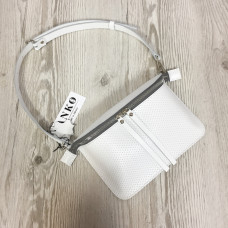 """Next"" bag genuine leather, white colour"