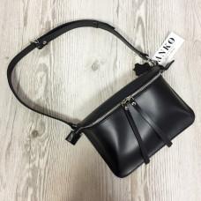 """Next"" bag genuine leather, black colour"
