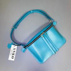 """Next"" bag genuine leather, turquoise colour (portofino)"