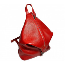 """Paris"" backpack genuine leather, red color"