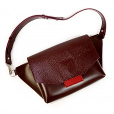 """Alexa"" bag genuine leather, red color"