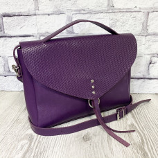 """Doroty"" bag genuine leather, purple color"