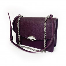 """Bogema"" bag genuine leather, aubergine color"