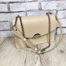 """Bogema"" bag genuine leather, ivory color"