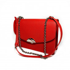 """Bogema"" bag genuine leather, red color"