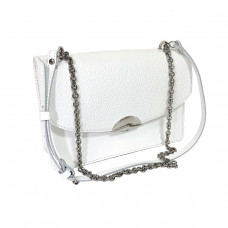 """Bogema"" bag genuine leather, white color"