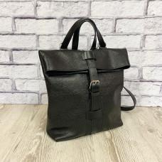 """Backpack bag """"Bond"""" genuine leather, black colour"""