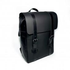 """Brooklyn"" backpack genuine leather, black color"