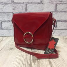 """Delta"" bag genuine leather, red colour"