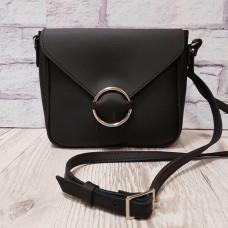 """Delta"" bag genuine leather, black super mat colour"