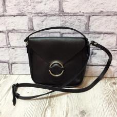 """""""Delta"""" bag genuine leather, black super mat colour (portofino)"""