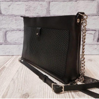 """Demi"" bag genuine leather, black colour"