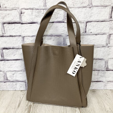 """Dolche"" bag genuine leather, cappuccino color"
