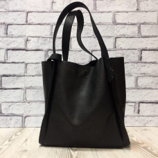"""Dolche"" bag genuine leather, black colour"