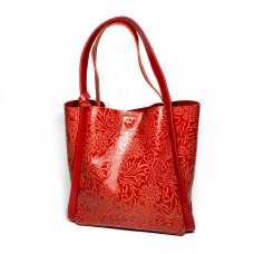 """Dolche"" bag genuine leather, red color"