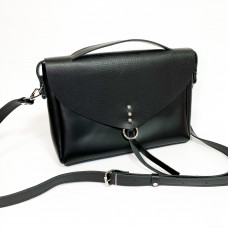 """Doroty"" bag genuine leather, black color"