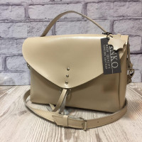 """Doroty"" bag genuine leather, ivory colour"