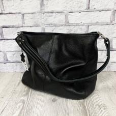 """Eva"" bag genuine leather, black colour"