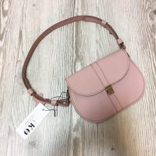 """Flora"" bag genuine leather, pink colour"