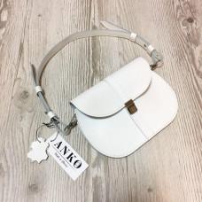 """Flora"" bag genuine leather, white colour"
