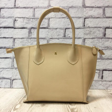 """Foldy"" bag genuine leather, ivory colour"