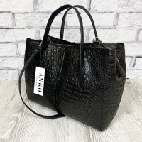"""Forta"" bag genuine lux-leather, black color"