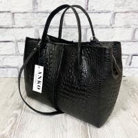 """Forta"" bag genuine lux-leather, black color"