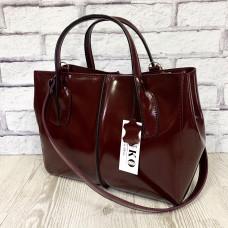 """Forta"" bag genuine leather, burgundy colour"