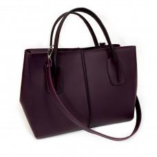 """Forta"" bag genuine leather,  aubergine colour"