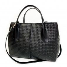 """""""Forta"""" bag genuine leather, black color"""