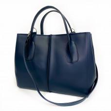 """Forta"" bag genuine leather, blue color"