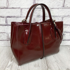 """Forta"" bag genuine leather, burgundy color"