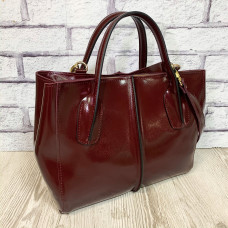 """Forta"" bag genuine leather, burgundy color"