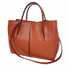 """Forta"" bag genuine leather, colour of  pottery clay"