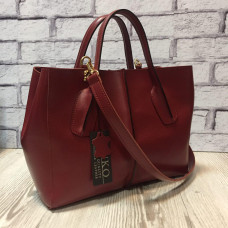"""Forta"" bag genuine leather, coral color"
