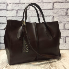 """Forta"" bag genuine leather, chocolate colour"