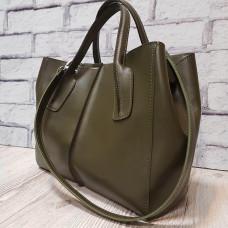 """""""Forta"""" bag genuine leather, khaki colour"""