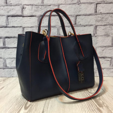"""""""Forta"""" bag genuine leather, blue/red colour"""