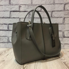 """Forta"" bag genuine leather, gray colour"